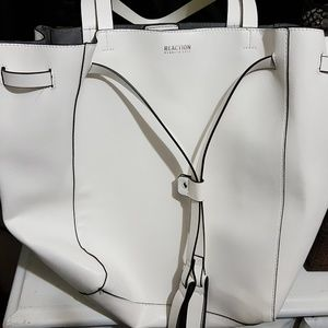 White Reaction Kenneth Cole Handbag